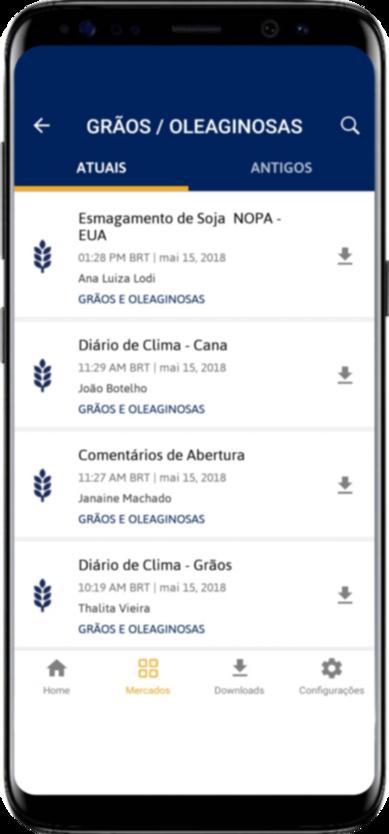 Mercados Agrícolas em seu Celular - App para Iphone e Android