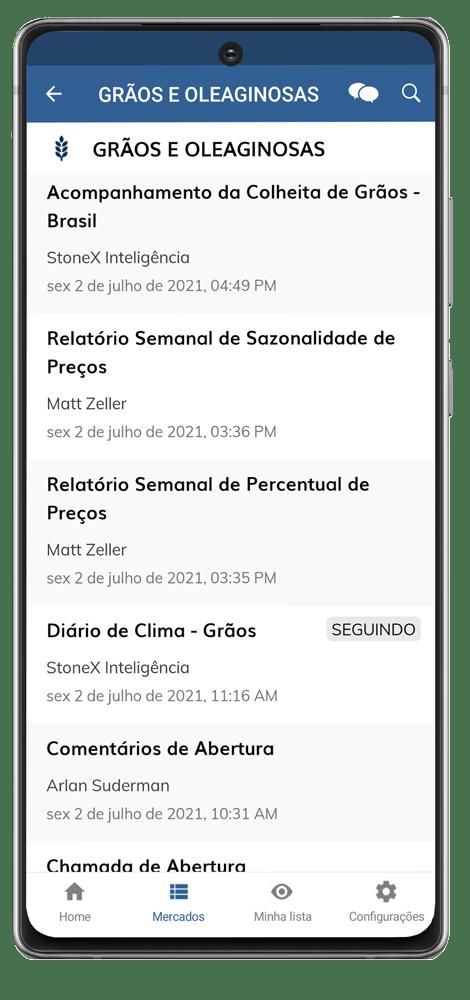 App StoneX - Galaxy Note 20